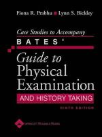 Bickley, Lynn S.; Prabhu, Fiona R. - Case Studies to Accompany Bates' Guide to Physical Examination and History Taking - 9780781792219 - V9780781792219