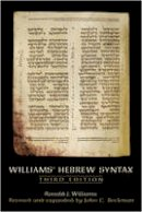 Beckman, John C. - Williams Hebrew Syntax, Third Edition - 9780802094292 - V9780802094292