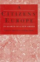 Allan Rosas~Esko Antola - Citizens' Europe: In Search of a New Order - 9780803975606 - KEX0160996
