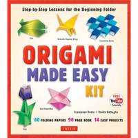 Tuttle - Origami Made Easy Kit: Step-by-Step Lessons for the Beginning Folder [origami book, 60 origami papers, 14 projects, & Video Tutorial] - 9780804845458 - V9780804845458