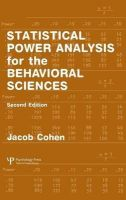 Cohen, Jacob - Statistical Power Analysis for the Behavioral Sciences (2nd Edition) - 9780805802832 - V9780805802832