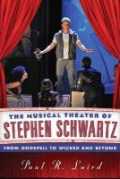 Laird, Paul R. - MUSICAL THEATER OF STEPHEN SCHCB - 9780810891913 - V9780810891913