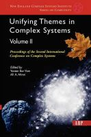 Bar-yam, Yaneer - Unifying Themes In Complex Systems, Volume 2: Proceedings Of The Second International Conference On Complex Systems (New England Complex Systems Inst Series) - 9780813341231 - KEX0227737