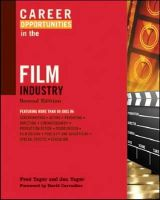 Yager, Fred, Yager PH.D., Jan - Career Opportunities in the Film Industry (Career Opportunities (Paperback)) - 9780816073535 - V9780816073535