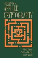 Menezes, Alfred J., van Oorschot, Paul C., Vanstone, Scott A. - Handbook of Applied Cryptography (Discrete Mathematics and Its Applications) - 9780849385230 - V9780849385230