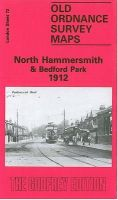 Fifteen-inch Ordnance Survey of London - Sheet 72: North Hammersmith & Bedford Park, 1912 - 9780850540611 - KEB0003000
