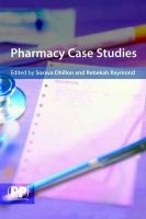 Pharmaceutical Press - Pharmacy Case Studies - 9780853697244 - V9780853697244