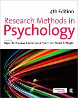 - Research Methods in Psychology - 9780857022646 - V9780857022646