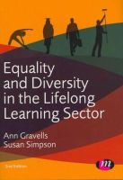 Gravells, Ann; Simpson, Susan - Equality and Diversity in the Lifelong Learning Sector - 9780857256973 - V9780857256973