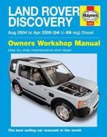 - Land Rover Discovery Diesel Service and Repair Manual (Haynes Service and Repair Manuals) - 9780857339836 - V9780857339836
