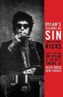 Christopher Bush - Dylan's Visions of Sin - 9780857862013 - V9780857862013