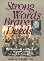 Gustav Klaus - Strong Words and Brave Deeds:  The Poetry, Life and Times of Thomas O'Brien, Soldier of the Spanish Civil War - 9780862783761 - V9780862783761