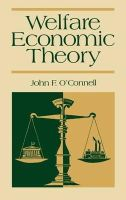 John O'Connell - Welfare Economics - 9780865690875 - KHS1010927