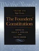 Kurland, Philip B.; Lerner, Ralph - The Founders' Constitution - 9780865973022 - V9780865973022