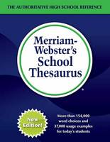 Merriam Webster - Merriam-Webster's School Thesaurus - 9780877793656 - V9780877793656