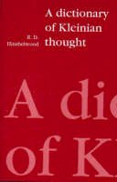 Hinshelwood, R. D. - Dictionary of Kleinian Thought - 9780946960835 - V9780946960835