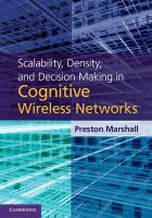Marshall, Dr Preston - Scalability, Density, and Decision Making in Cognitive Wireless Networks - 9781107015494 - V9781107015494