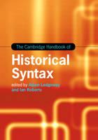 - The Cambridge Handbook of Historical Syntax (Cambridge Handbooks in Language and Linguistics) - 9781107049604 - V9781107049604