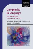 - Complexity in Language: Developmental and Evolutionary Perspectives (Cambridge Approaches to Language Contact) - 9781107054370 - V9781107054370