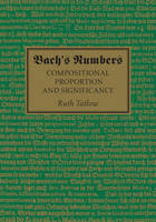 Tatlow, Ruth - Bach's Numbers: Compositional Proportion and Significance - 9781107088603 - V9781107088603