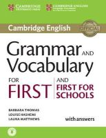 Thomas, Barbara, Hashemi, Louise, Matthews, Laura - Grammar and Vocabulary for First and First for Schools Book with Answers and Audio - 9781107481060 - V9781107481060
