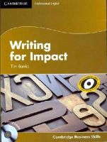 Banks, Tim - Writing for Impact Student's Book with Audio CD (Cambridge Business Skills) - 9781107603516 - V9781107603516