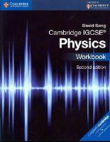 Sang, David - Cambridge IGCSE® Physics Workbook (Cambridge International Examinations) - 9781107614888 - V9781107614888