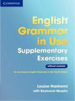 Hashemi, Louise - English Grammar in Use Supplementary Exercises .without Answers - 9781107630437 - V9781107630437