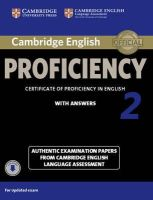 Victorian Association for Environmental - Cambridge English Proficiency 2 Student's Book with Answers with Audio: Authentic Examination Papers from Cambridge English Language Assessment (CPE Practice Tests) - 9781107646513 - V9781107646513
