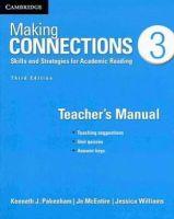 Pakenham, Kenneth J.; McEntire, Jo; Williams, Jessica - Making Connections Level 3 Teacher's Manual - 9781107650541 - V9781107650541