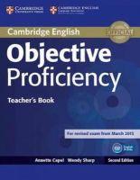 Capel, Annette, Sharp, Wendy - Objective Proficiency Teacher's Book - 9781107670563 - V9781107670563