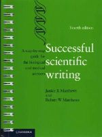 Matthews, Janice R., Matthews, Robert W. - Successful Scientific Writing: A Step-by-Step Guide for the Biological and Medical Sciences - 9781107691933 - V9781107691933