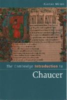 Minnis, Alastair - The Cambridge Introduction to Chaucer (Cambridge Introductions to Literature) - 9781107699908 - V9781107699908