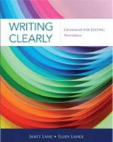 Lane, Janet, Lange, Ellen - Writing Clearly: Grammar for Editing - 9781111351977 - V9781111351977