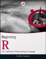 Gardener, Mark - Beginning R: The Statistical Programming Language - 9781118164303 - V9781118164303
