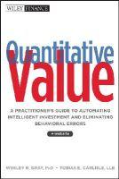 Gray, Wes; Carlisle, Tobias - Quantitative Value - 9781118328071 - V9781118328071