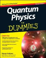 Holzner, Steve - Quantum Physics For Dummies - 9781118460825 - V9781118460825
