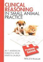 Maddison, Jill E., Volk, Holger A., Church, David B. - Clinical Reasoning in Small Animal Practice - 9781118741757 - V9781118741757