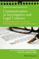 - Communication in Investigative and Legal Contexts - 9781118769225 - V9781118769225