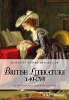 DeMaria, Robert - British Literature 1640-1789 - 9781118952481 - V9781118952481