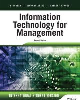 Turban, Efraim, Volonino, Linda, Wood, Gregory R. - Information Technology for Management: Advancing Sustainable, Profitable Business Growth - 9781118961261 - V9781118961261