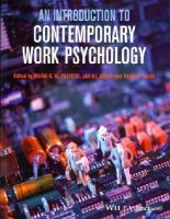 - An Introduction to Contemporary Work Psychology - 9781119945536 - V9781119945536