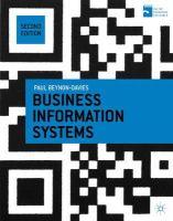 Beynon-Davies, Paul - Business Information Systems - 9781137265807 - V9781137265807