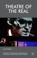 Martin, Carol - Theatre of the Real (Studies in International Performance) - 9781137522825 - V9781137522825