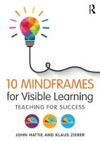 Hattie, John, Zierer, Klaus - 10 Mindframes for Visible Learning: Teaching for Success - 9781138635524 - V9781138635524