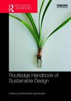 - Routledge Handbook of Sustainable Design (Routledge International Handbooks) - 9781138650176 - V9781138650176