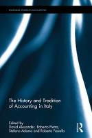 - The History and Tradition of Accounting in Italy (Routledge Studies in Accounting) - 9781138671508 - V9781138671508