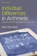 Dowker, Ann - Individual Differences in Arithmetic - 9781138800342 - V9781138800342