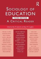 - Sociology of Education: A Critical Reader - 9781138843004 - V9781138843004