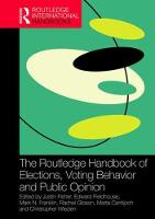 - The Routledge Handbook of Elections, Voting Behavior and Public Opinion (Routledge International Handbooks) - 9781138890404 - V9781138890404